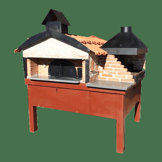 Forno a legna artigianale personalizzabile con barbecue