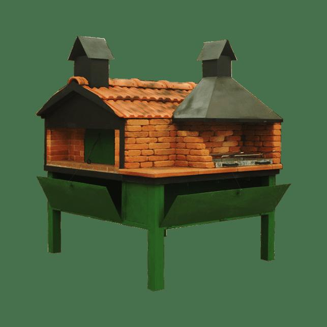 Forno A Legna Domestico Artigianale Modello Con Barbecue